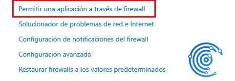 permitir una aplicación en el firewall para solucionar el error 523 en roblox