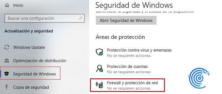 Seguridad y protección de red en Windows Defender
