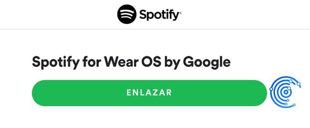 enlazar smartwatch con spotify
