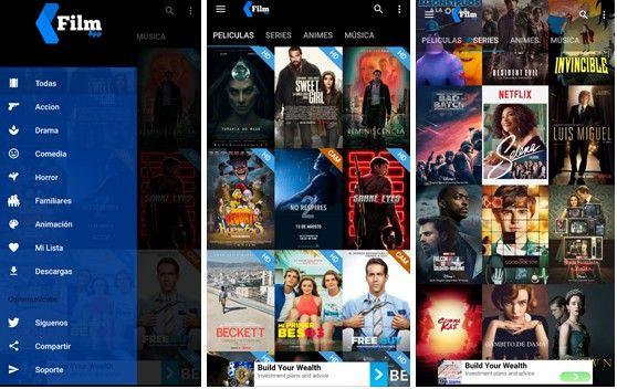 interfaz de film app apk