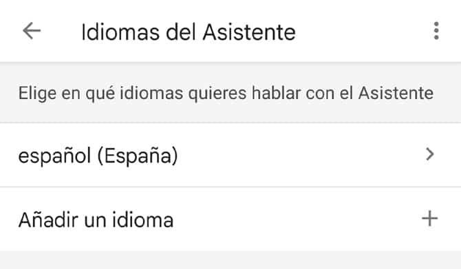 configurar el idioma de OK Google