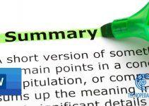 Así Puedes Crear un Resumen Automático en Word