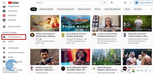 recomendaciones de youtube india