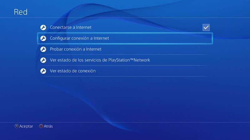 Configurar conexión a internet en la PS4