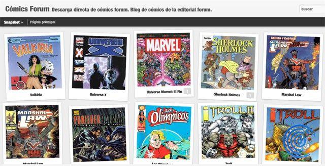 descargar cómics gratis de Cómic Forum