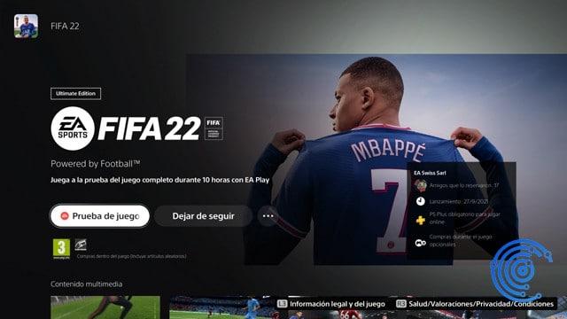 descargar Fifa 22 con Ea play