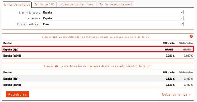 tarifas para llamar gratis desde España por MobileVOIP