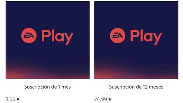 Precio de las suscripciones a EA Play