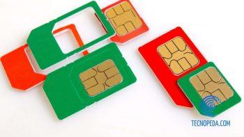 Tarjetas SIM de color rojo y verde