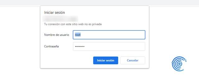 acceder a la interfaz web